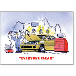 Automotive Postcard Response - Everyone Clear