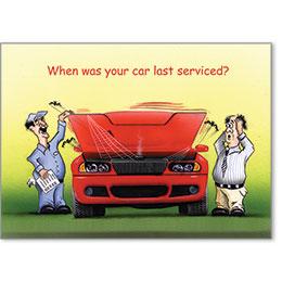 Automotive Postcard Response - When was your car last serviced?