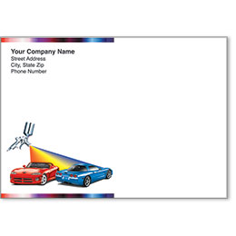 Full-Color Auto Repair Postcards - Rainbow Spray