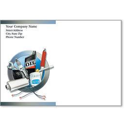 Full-Color Auto Repair Postcards - Auto Supplies