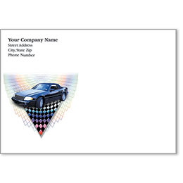 Full-Color Auto Repair Postcards - Checkered Rainbow
