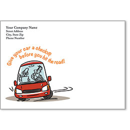 Full-Color Auto Repair Postcards - Give Your Car a Checkup