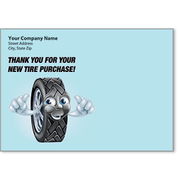 Full-Color Auto Repair Postcards - New Tire Purchase