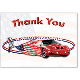 Automotive Thank You Postcards - American Pride II