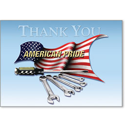 Automotive Thank You Postcards - American Pride