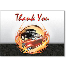Automotive Thank You Postcards - Classic Cars