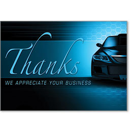 Automotive Thank You Postcards - Pride in Quality