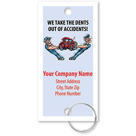 Personalized Full-Color Key Tags - Dents Out