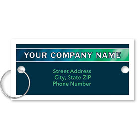Personalized Full-Color Key Tags - Cool Gradient