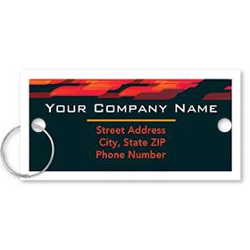 Personalized Full-Color Key Tags - Abstract Flame