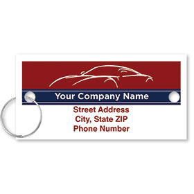 Personalized Full-Color Key Tags - Patriotic Ambiance