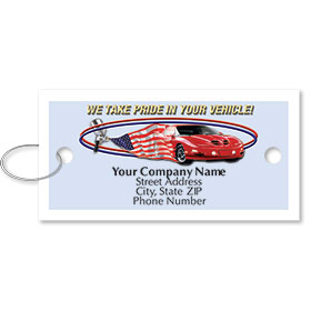 Personalized Full-Color Key Tags - American Pride II