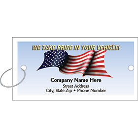 Personalized Full-Color Key Tags - American Pride