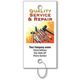 Personalized Full-Color Key Tags - Quality Service & Repair
