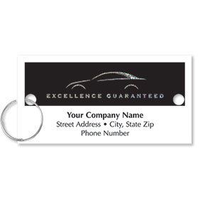 Personalized Full-Color Key Tags - Excellence Guaranteed II