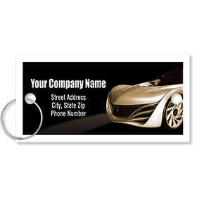 Personalized Full-Color Key Tags - Thank You for Your Business