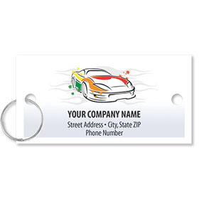 Personalized Full-Color Key Tags - Paint Splotched