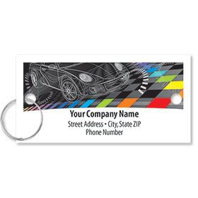 Personalized Full-Color Key Tags - Sketched Car