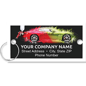 Personalized Full-Color Key Tags - Splash