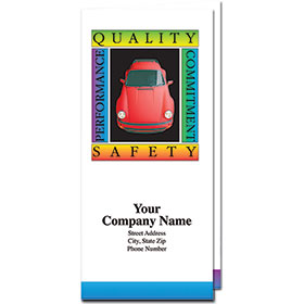 Custom Full-Color Auto Document Holders with Single Pocket - Quality & Safety
