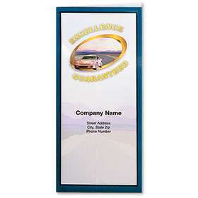 Custom Foil Auto Document Holders with Double Pocket - Excellence Guaranteed