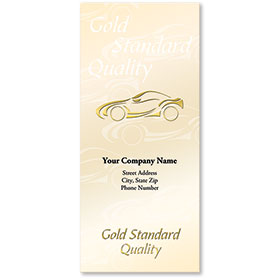 Custom Foil Auto Document Holders with Double Pocket - Gold Standard Quality
