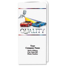 Custom Full-Color Auto Document Holders with Single Pocket - Quality