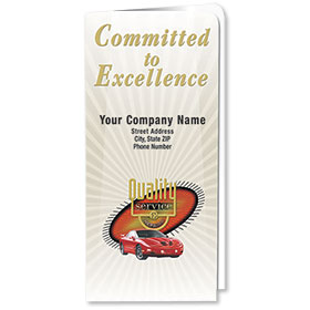 Custom Full-Color Auto Document Holders with Single Pocket - Committed to Excellence