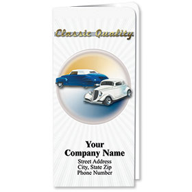 Custom Full-Color Auto Document Holders with Single Pocket - Classic Quality
