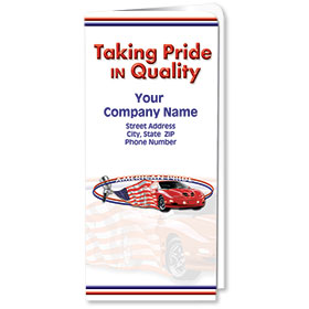 Custom Full-Color Auto Document Holders with Single Pocket - Taking Pride in Quality