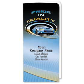 Custom Full-Color Auto Document Holders with Single Pocket - Pride in Quality