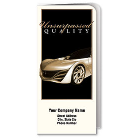 Custom Full-Color Auto Document Holders with Single Pocket - Unsurpassed Quality