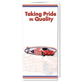 Full-Color Auto Document Holders with Single Pocket - Taking Pride in Quality