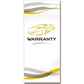 Customer Service Warranty with Reply Card - Gold Car Sketch