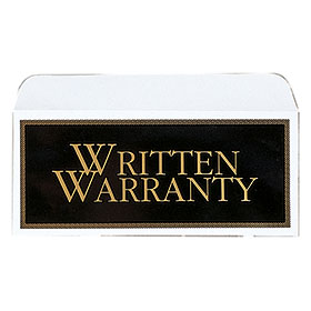 Deluxe Written Warranty Envelope