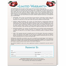 2-Part Car Service Warranty - Design 2