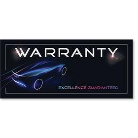 Full-Color Foil Car Service Warranty - Excellence Guaranteed III