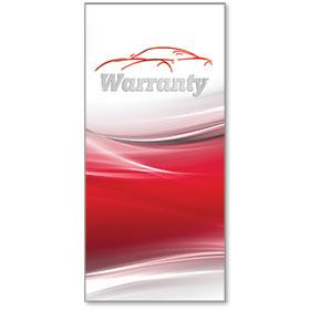 Full-Color Foil Car Service Warranty - Red Car Sketch