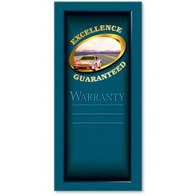 Full-Color Foil Car Service Warranty - Excellence Guaranteed