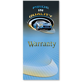 Full-Color Foil Car Service Warranty - Pride in Quality