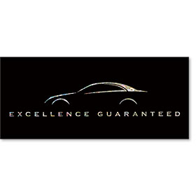 Full-Color Foil Car Service Warranty - Excellence Guaranteed II