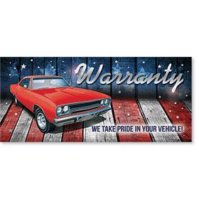 Full-Color Foil Car Service Warranty - Vehicle Pride