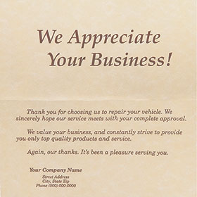 Custom Parchment Thank You Note - Version 3