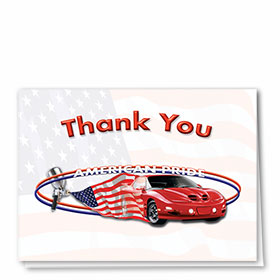 Full-Color Automotitve Thank You Cards - American Pride II