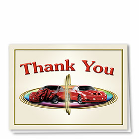 Full-Color Automotitve Thank You Cards - Sports Car Collision