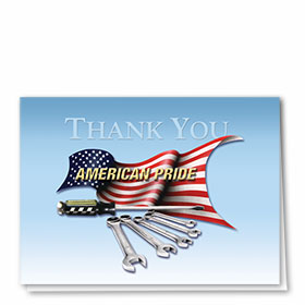 Full-Color Automotitve Thank You Cards - American Pride