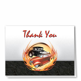 Full-Color Automotitve Thank You Cards - Classic Cars