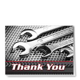 Full-Color Automotitve Thank You Cards - Wrenches