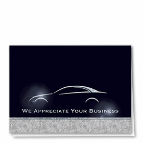 Foil Automotive Thank You Cards - Excellence Guaranteed II