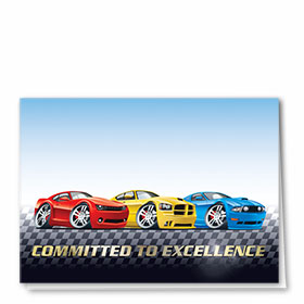 Foil Automotive Thank You Cards - Committed to Excellence